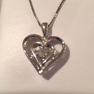Jewelry sterling silver floating diamond heart necklace poshmark jewelry sterling silver floating diamond heart necklace aloadofball Images